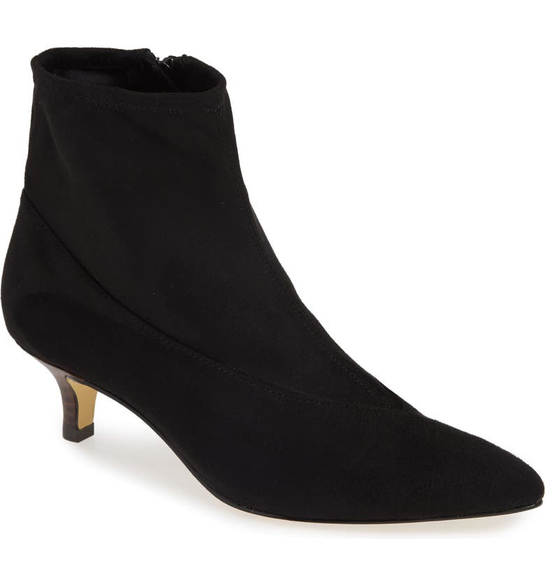 BELLA VITA Stephanie II Stretch Bootie, Main, color, BLACK FAUX SUEDE