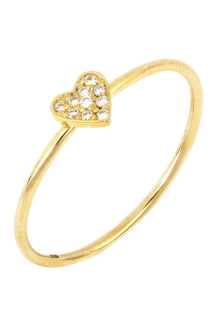 Image of Bony Levy 18K Gold Heart Diamond Pave Ring - 0.04 ctw