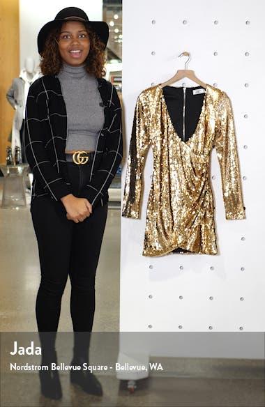 Flores Sequin Long Sleeve Dress, sales video thumbnail