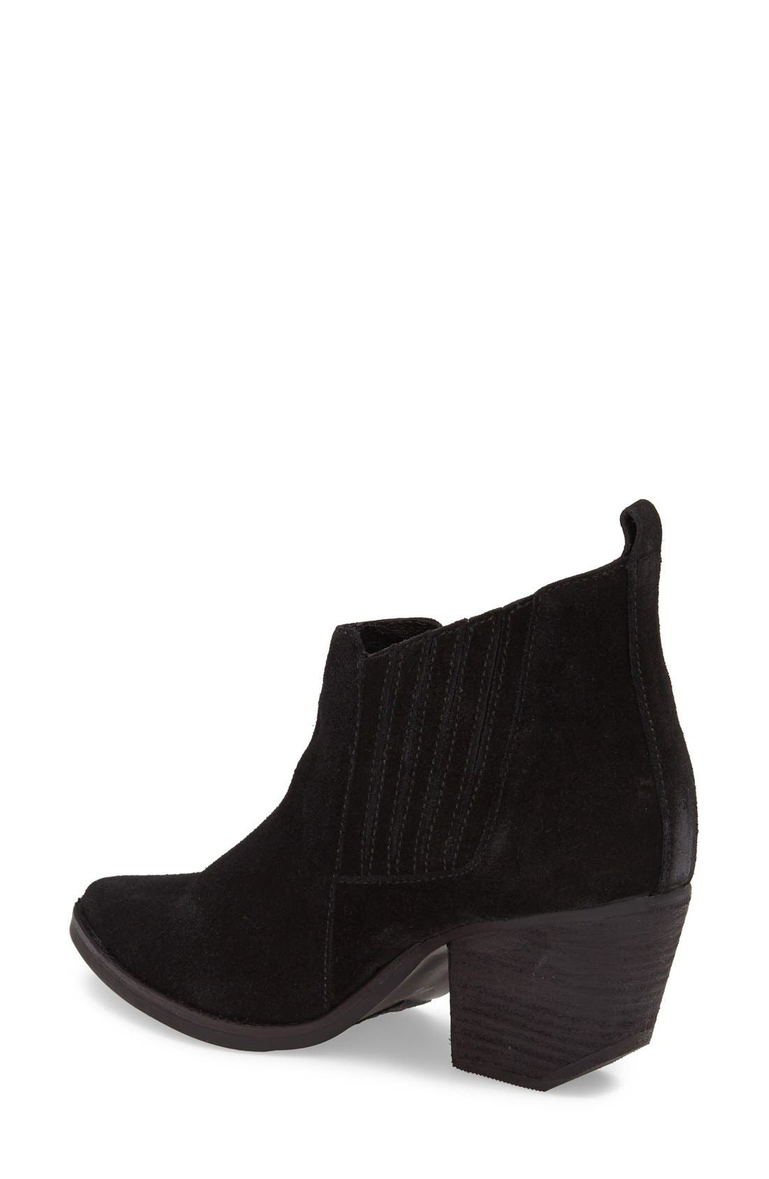 ,                             'Eve' Suede Bootie,                             Alternate thumbnail 4, color,                             018