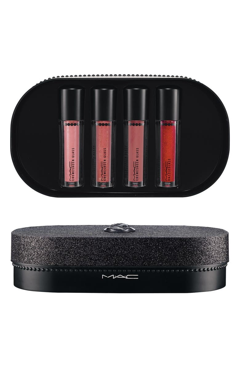 MAC COSMETICS M·A·C 'Objects of Affection - Pink & Plum' Cremesheen Glass & Dazzleglass Set, Main, color, 600