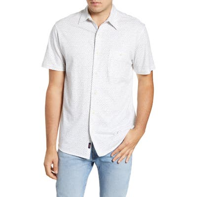 Faherty Everyday Short Sleeve Button-Up Shirt, White