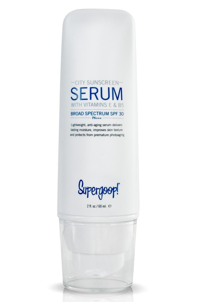 SUPERGOOP!<SUP>®</SUP> Supergoop! City Sunscreen Serum SPF 30+ PA+++, Main, color, NO COLOR