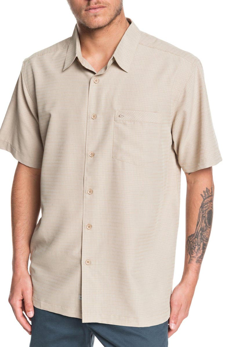 QUIKSILVER WATERMAN COLLECTION Centinela Regular Fit Camp Shirt, Main, color, STAR FISH