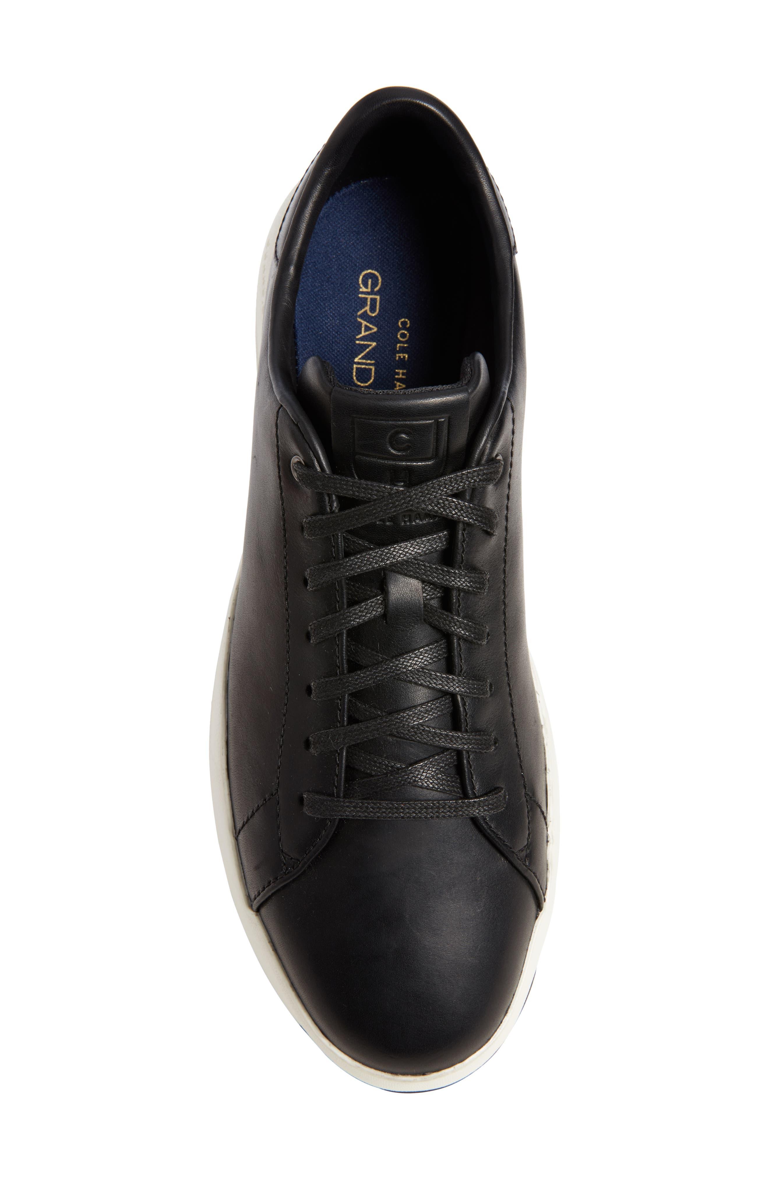 ,                             GrandPro Tennis Sneaker,                             Alternate thumbnail 5, color,                             BLACK LEATHER