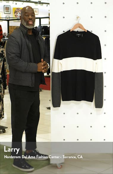 Zoren Regular Fit Colorblock Cashwool<sup>®</sup> Pullover, sales video thumbnail