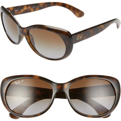 Ray-Ban 5m Polarized Sunglasses - Havana/ Grey Gradient Brown