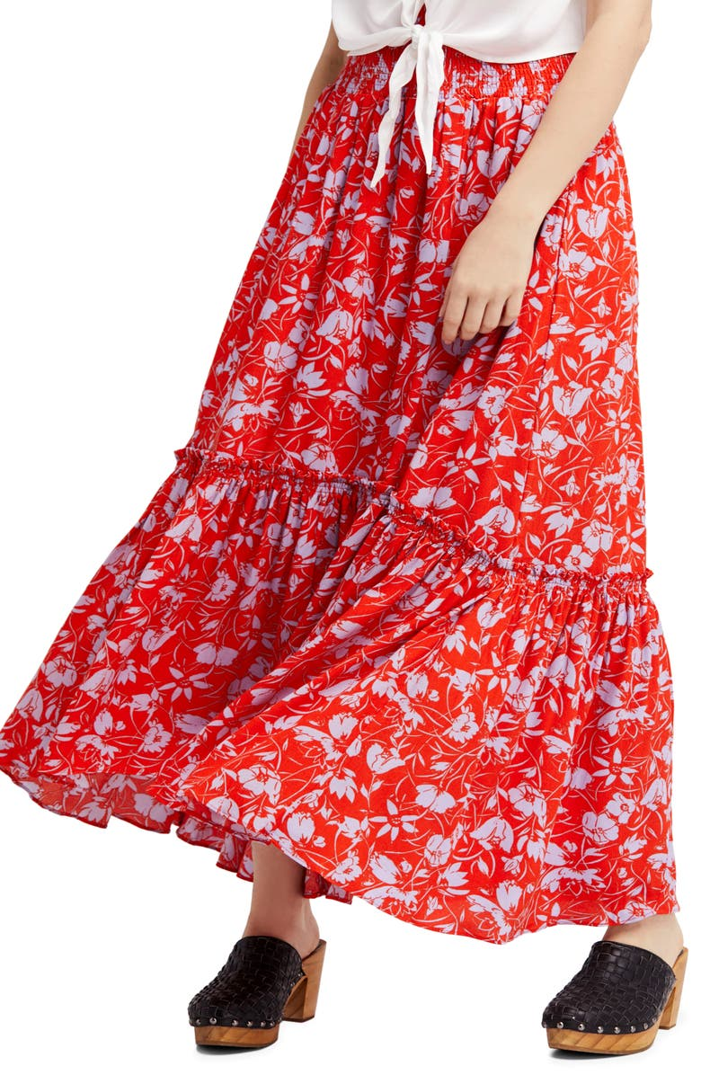 62f47d3110 Free People Way of the Wind Print Maxi Skirt | Nordstrom