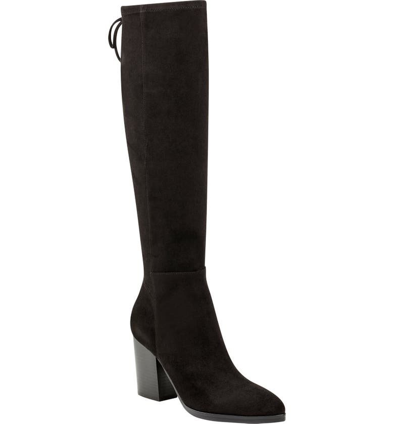 MARC FISHER LTD Albina Knee High Boot, Main, color, BLACK SUEDE