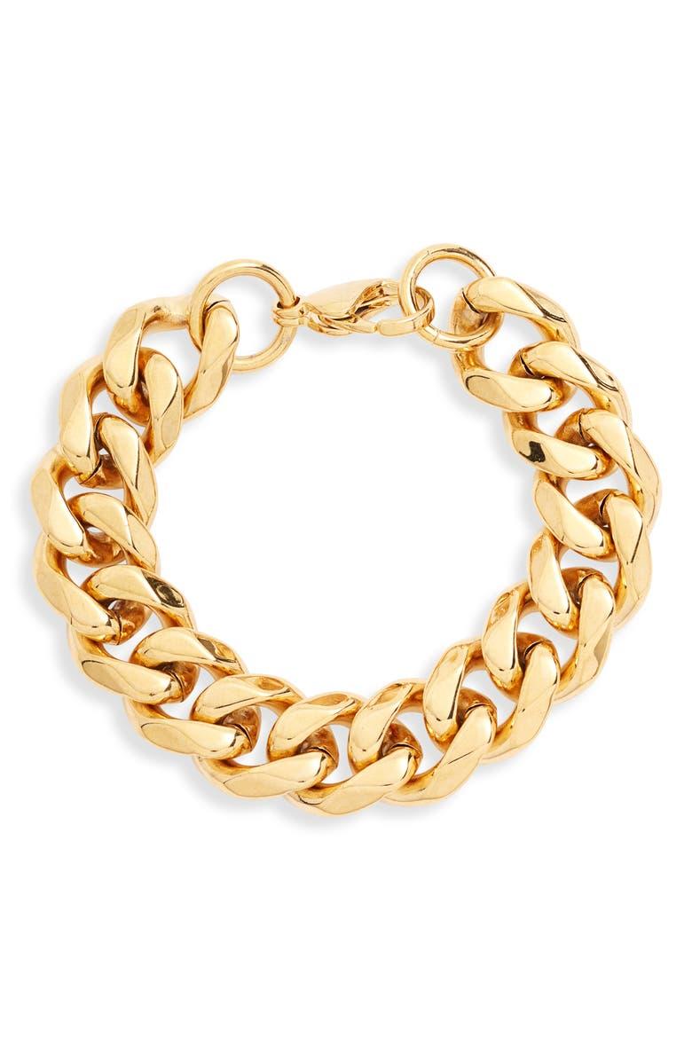 ELLIE VAIL Brent Chunky Chain Bracelet, Main, color, GOLD