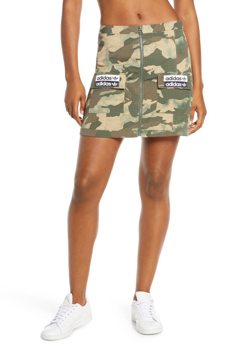 ADIDAS ORIGINALS Camo Skirt, Main, color, 250