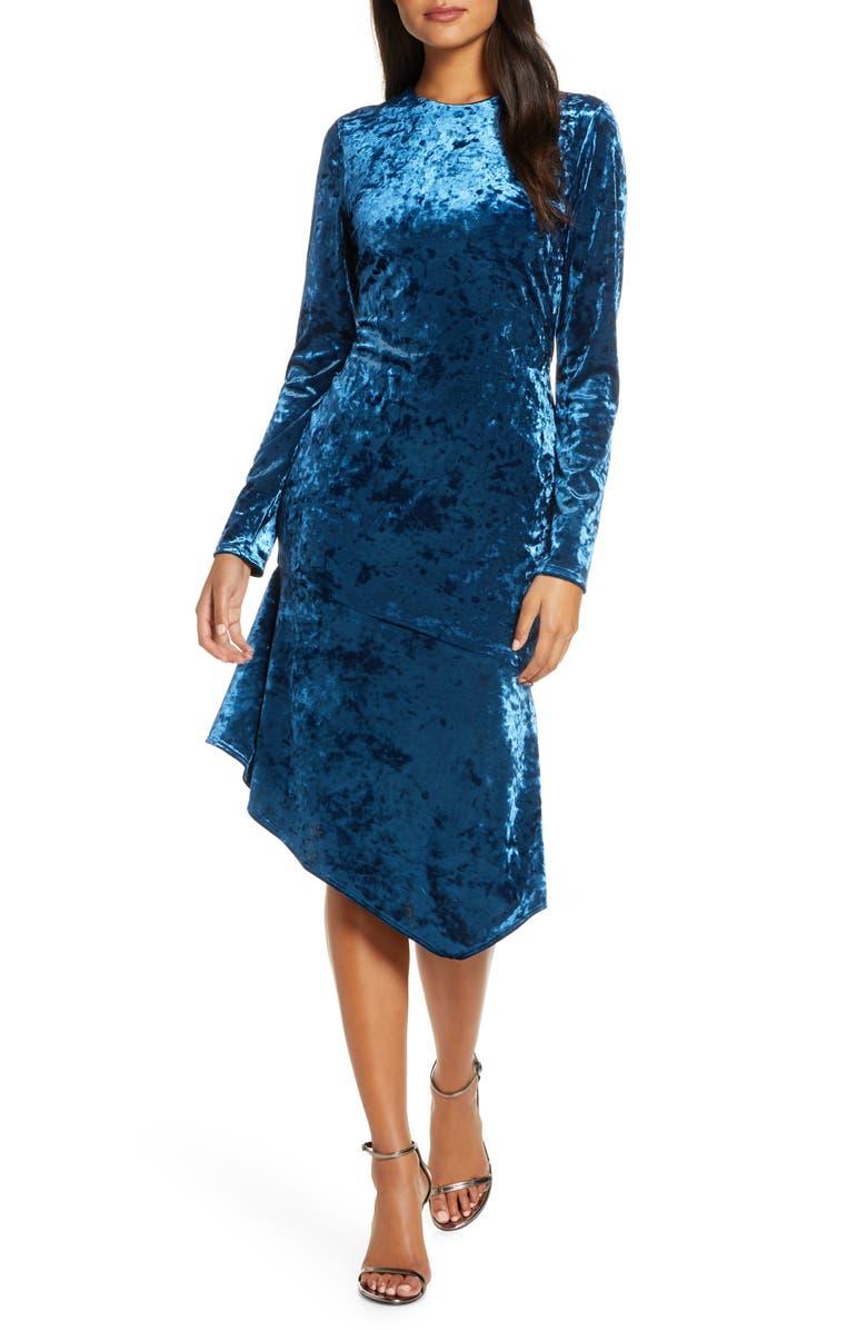 BLACK HALO Maddox Velvet Sheath Dress, Main, color, 400