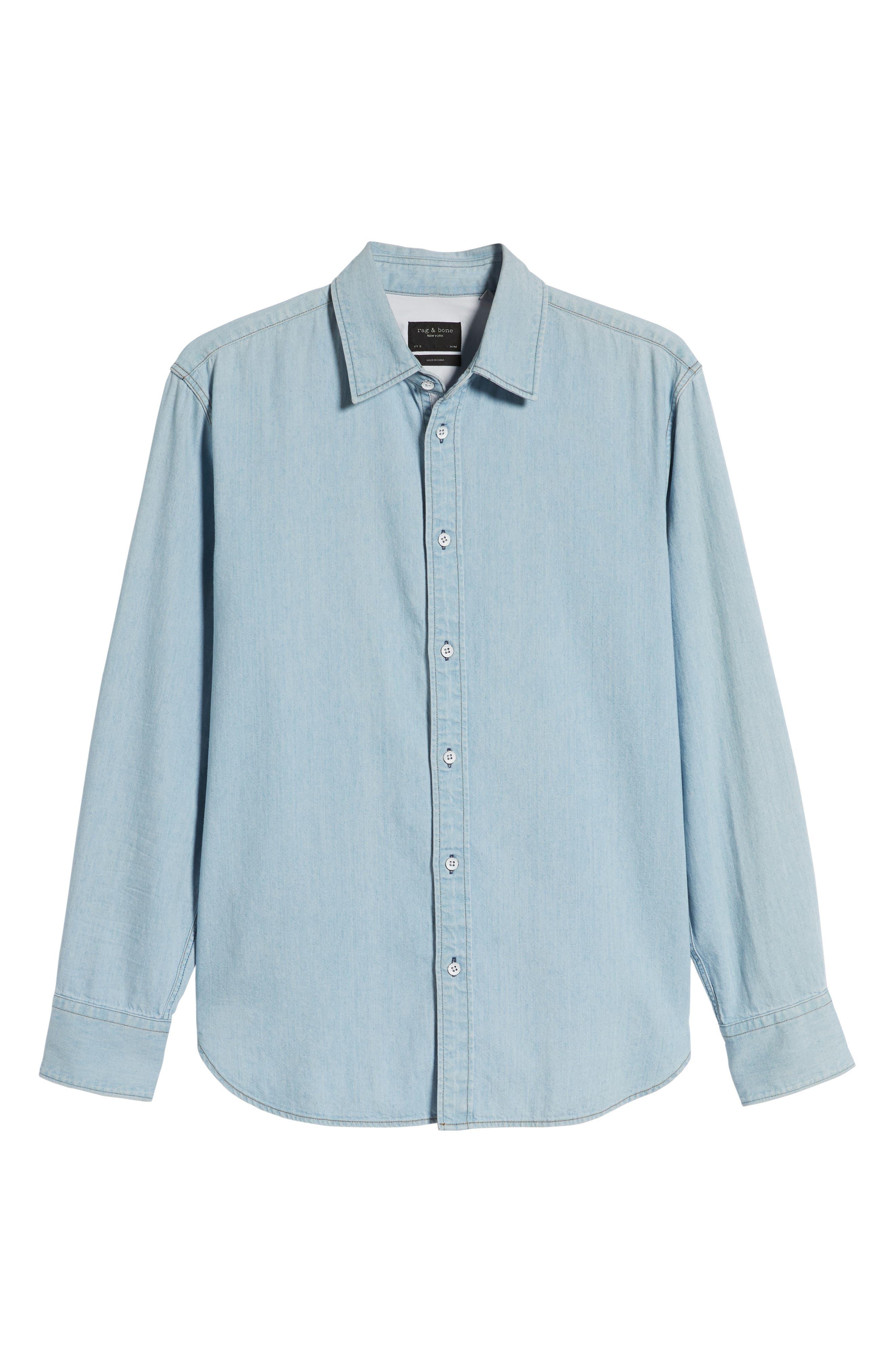,                             Fit 3 Regular Fit Denim Shirt,                             Alternate thumbnail 5, color,                             DUSK