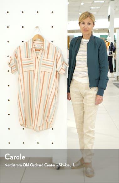 Courier Stripe Linen & Cotton Popover Dress, sales video thumbnail