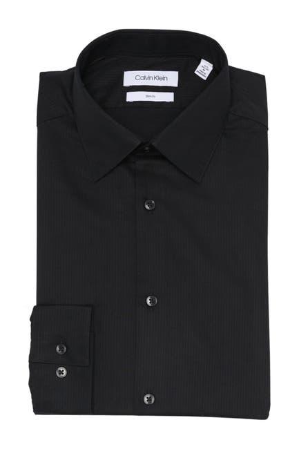 Image of Calvin Klein Stripe Slim Fit Dress Shirt