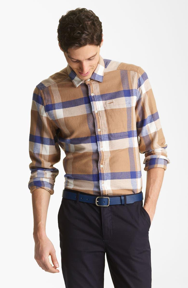 SHIPLEY & HALMOS Washed Cotton Woven Shirt, Main, color, 200