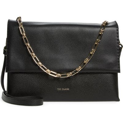 Ted Baker London Diaana Bar Leather Shoulder Bag - Black