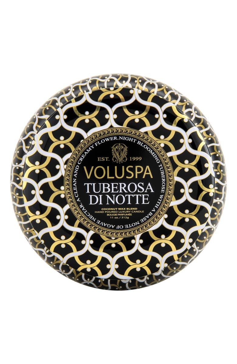 Voluspa Maison Noir Tuberosa Di Notte Maison Metallo Two Wick Candle