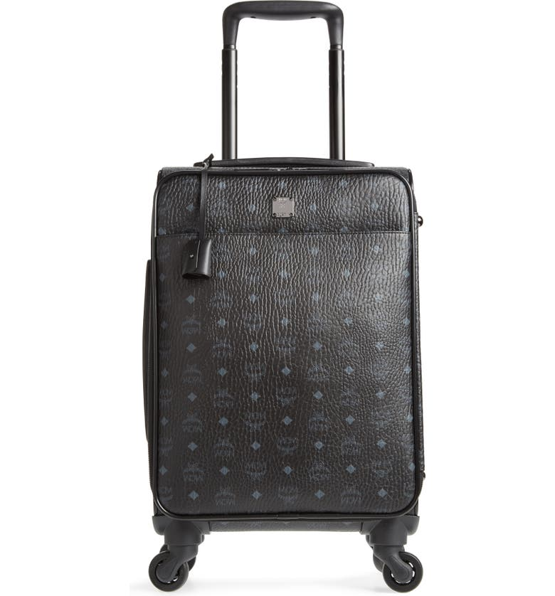 MCM Small Traveler Visetos 21-Inch Trolley Wheeled Suitcase, Main, color, 001