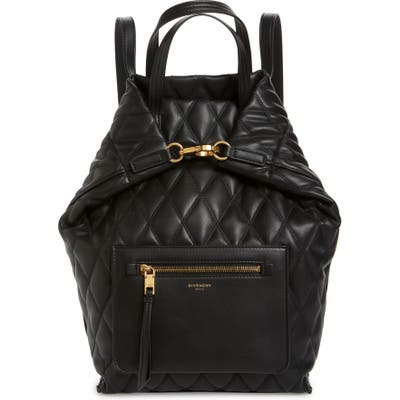 Givenchy Duo Quilted Faux Leather Backpack - Black