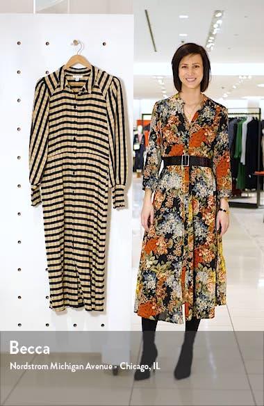 Stripe Long Sleeve Midi Shirtdress, sales video thumbnail