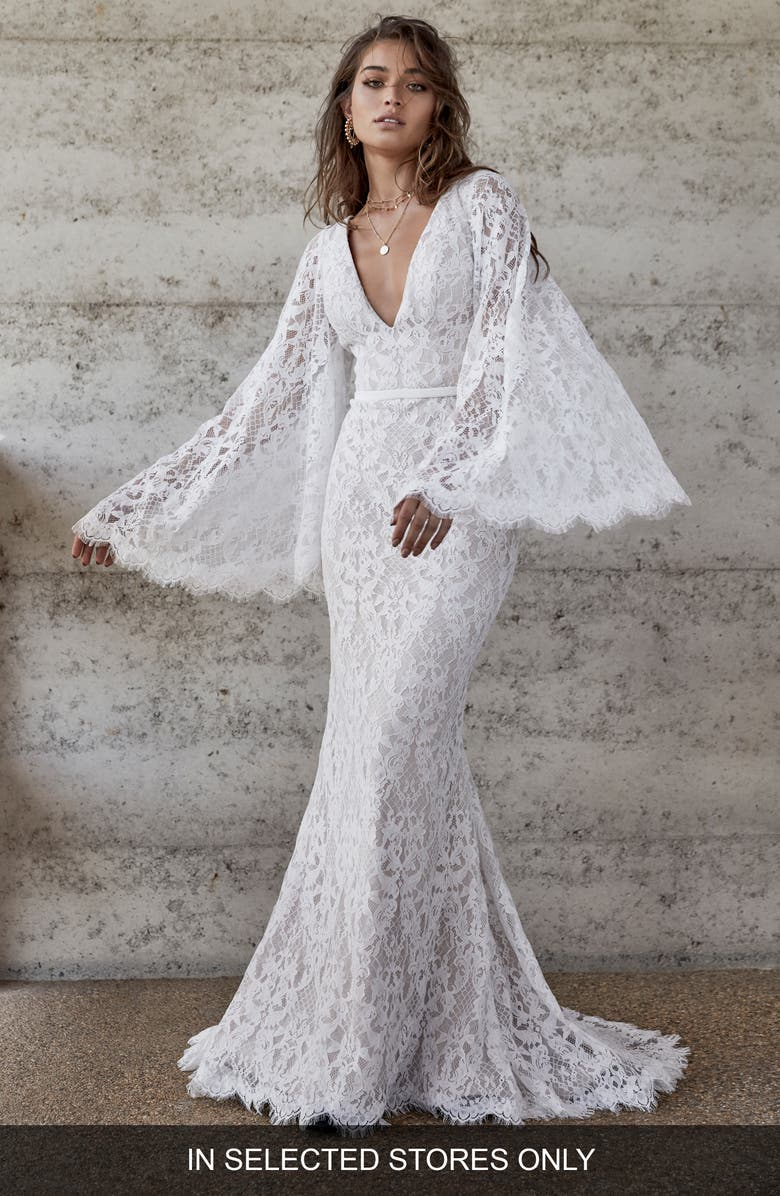 CHOSEN BY ONE DAY Emmie Lace Gown, Main, color, 100