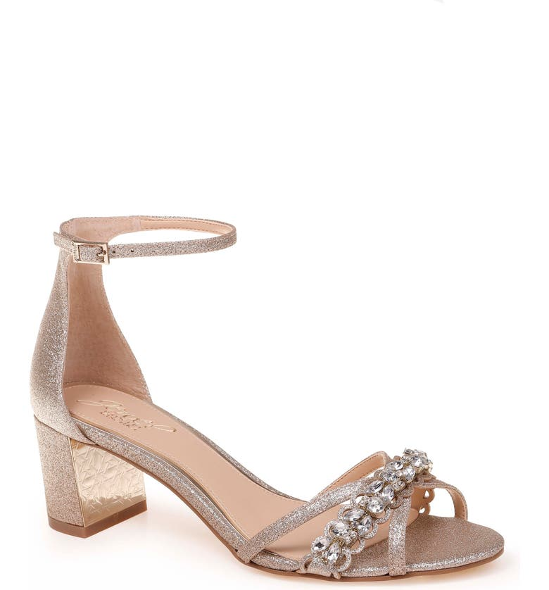 JEWEL BADGLEY MISCHKA Giona Sandal, Main, color, GOLD GLITTER