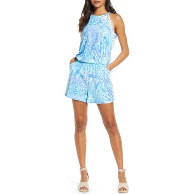 Lilly Pulitzer Lala Sleeveless Romper, Blue
