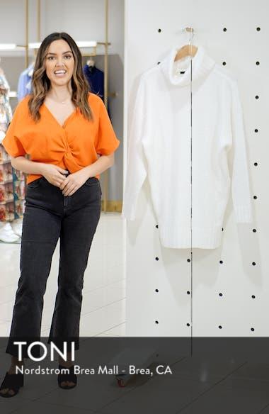 Chenille Turtleneck Sweater Dress, sales video thumbnail