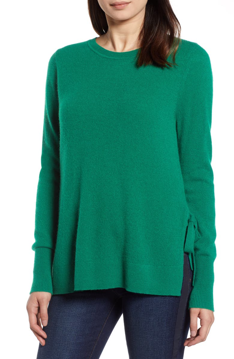HALOGEN<SUP>®</SUP> Side Tie Cashmere Sweater, Main, color, 301