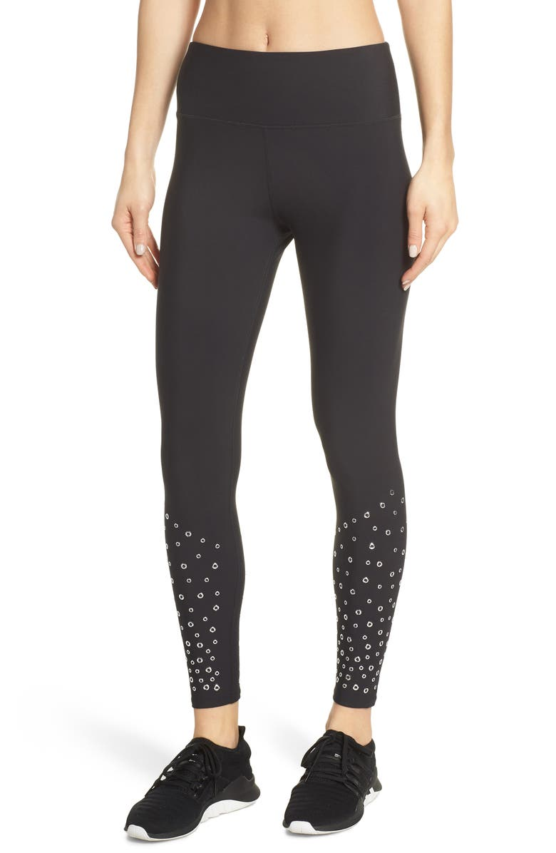 SOUL BY SOULCYCLE High Waist Grommet Tights, Main, color, 001