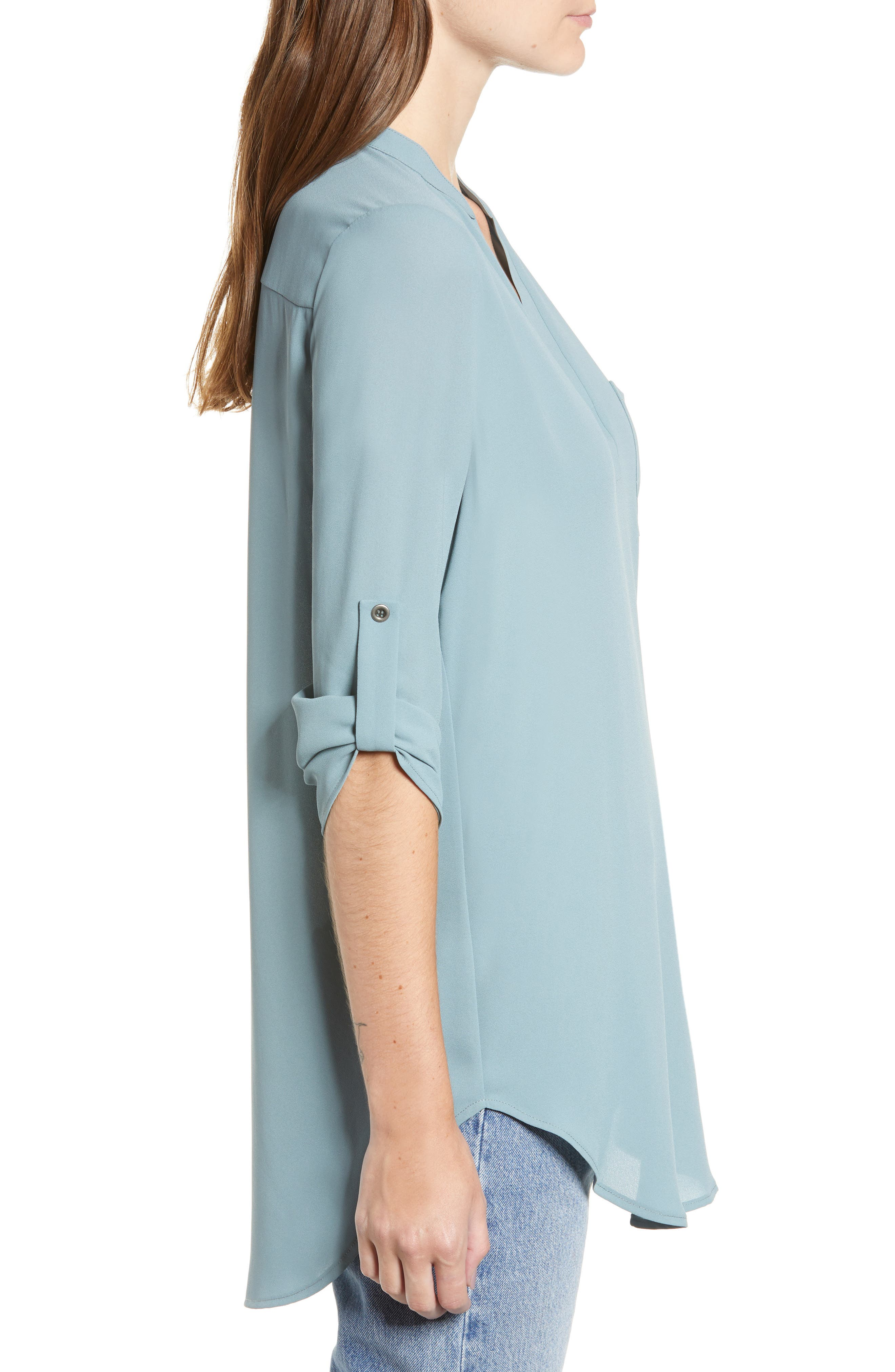 ,                             Perfect Roll Tab Sleeve Tunic,                             Alternate thumbnail 117, color,                             498