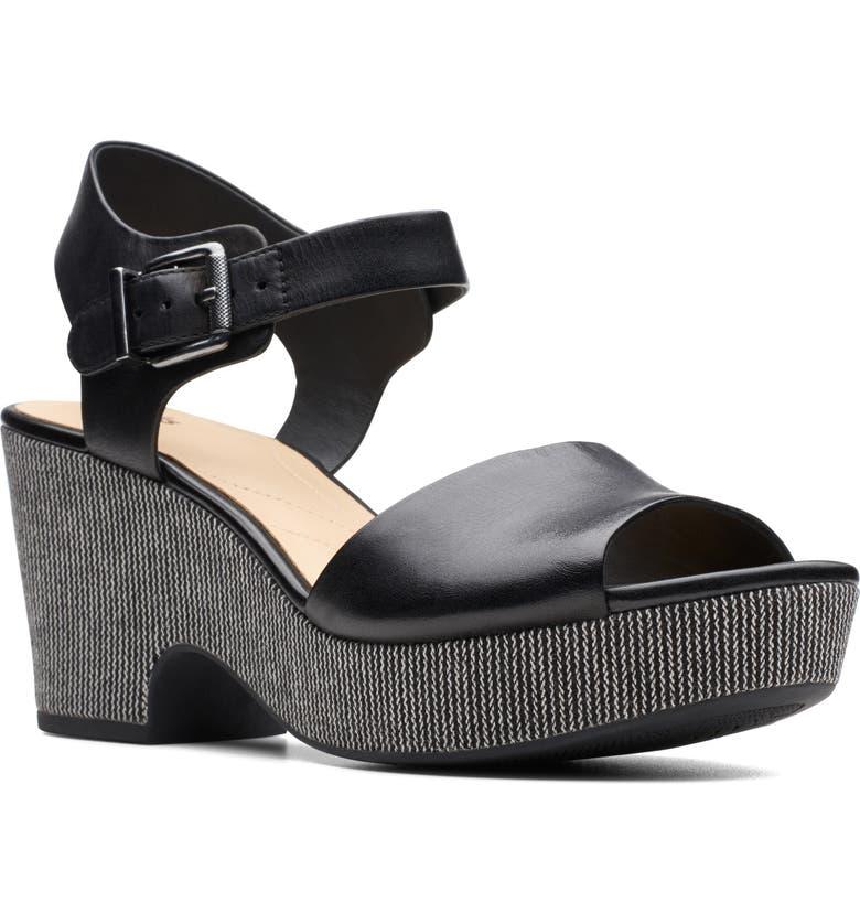 CLARKS<SUP>®</SUP> Maritsa Janna Platform Sandal, Main, color, 001