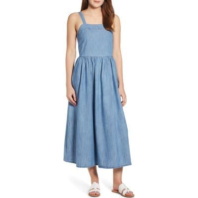 Plus Size Caslon Midi Sundress, Blue