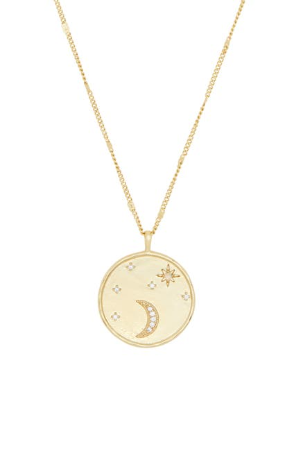 Image of Gorjana Luna Coin Pendant Necklace