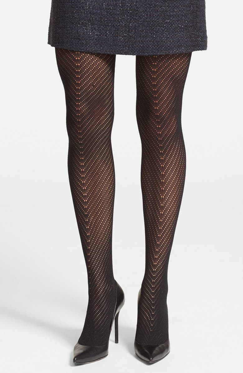 VINCE CAMUTO Openwork Tights, Main, color, 001
