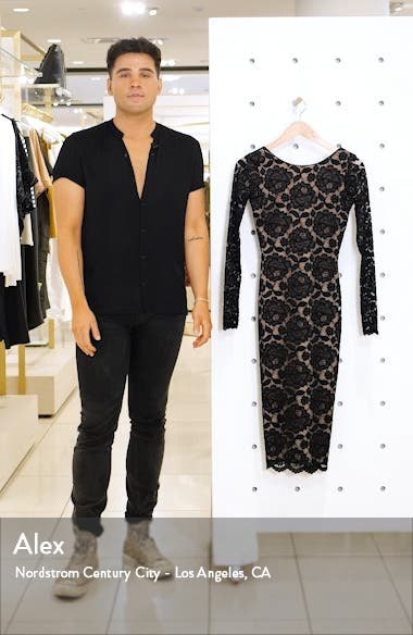 Emery Long Sleeve Lace Cocktail Dress, sales video thumbnail