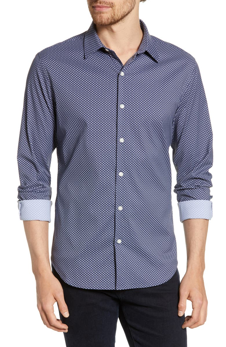 Bonobos Slim Fit Geo Print Tech Shirt