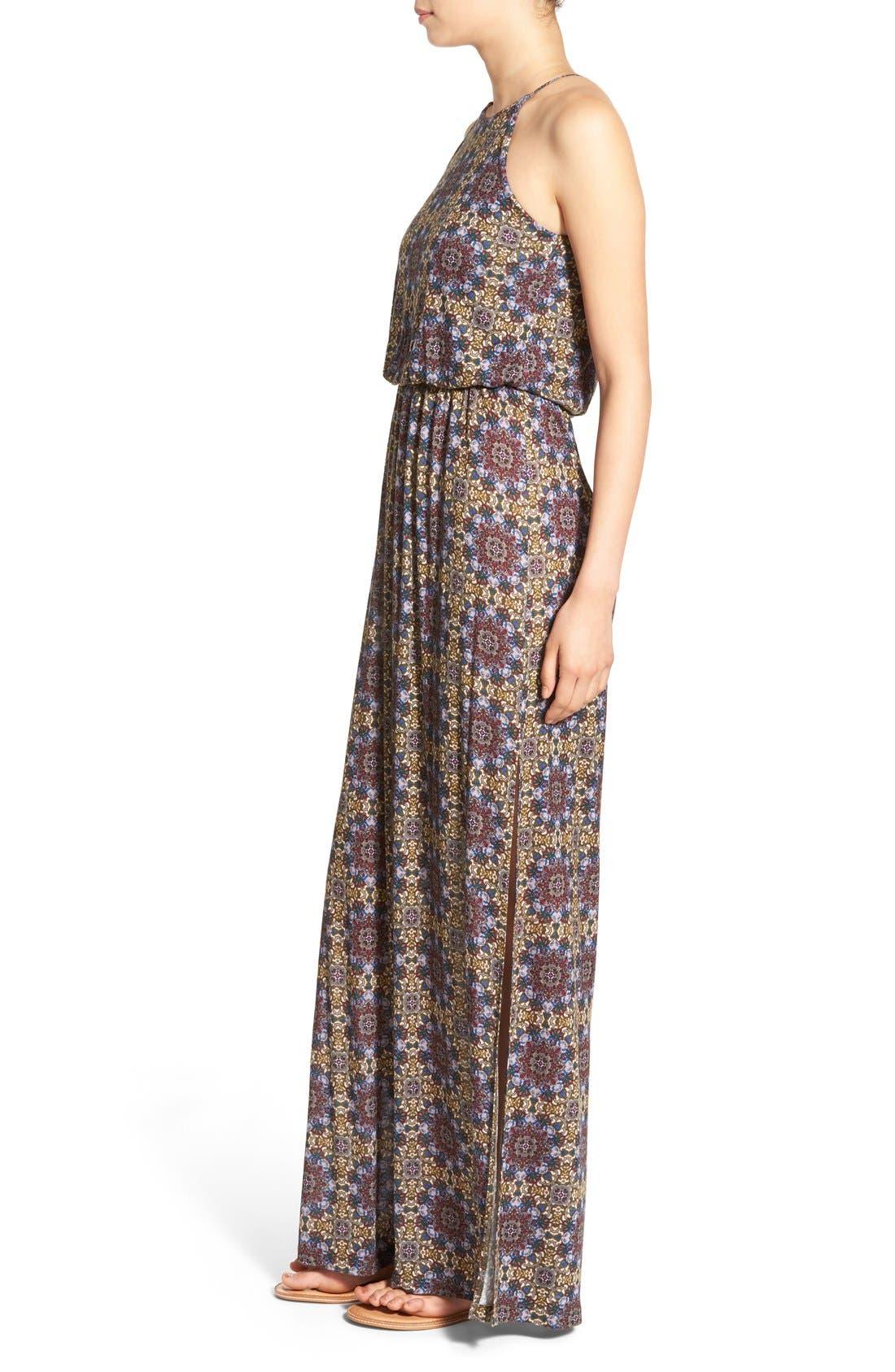 ,                             High Neck Maxi Dress,                             Alternate thumbnail 79, color,                             300