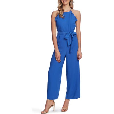 Cece Sleeveless Belted Ruffle Jumpsuit