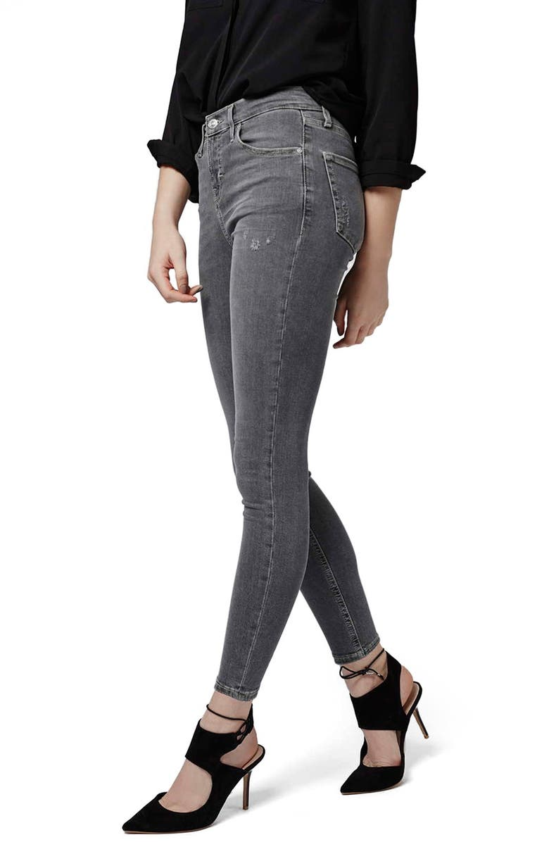 TOPSHOP High Rise Skinny Jeans, Main, color, 020