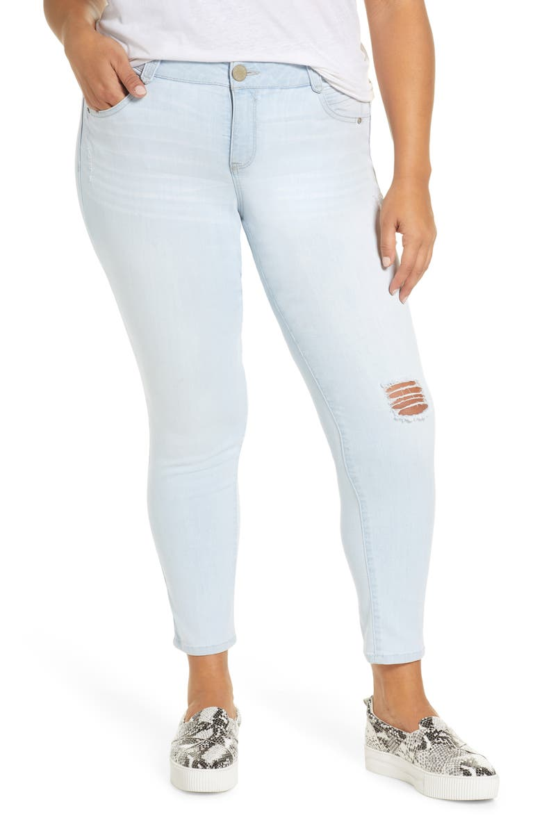 WIT & WISDOM Ab-Solution Distressed Skinny Ankle Jeans, Main, color, 458