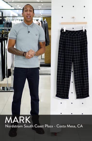 Windowpane Deep Waistband Cropped Trousers, sales video thumbnail