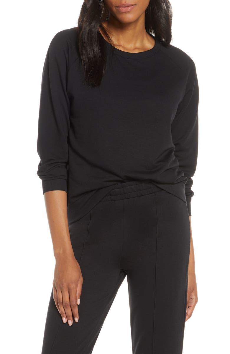JOE'S Raglan Sleeve Sweatshirt, Main, color, BLACK