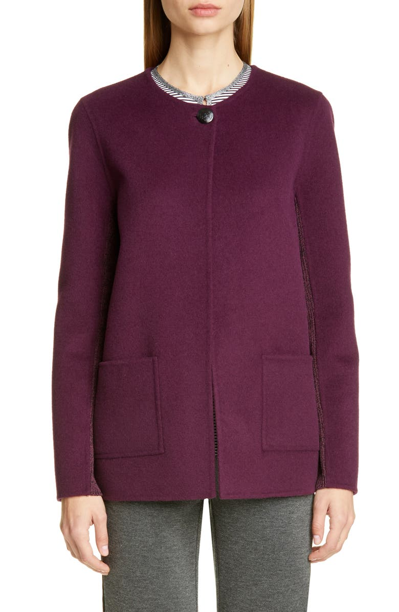 ST. JOHN COLLECTION Double Face Wool Blend Jacket, Main, color, 930
