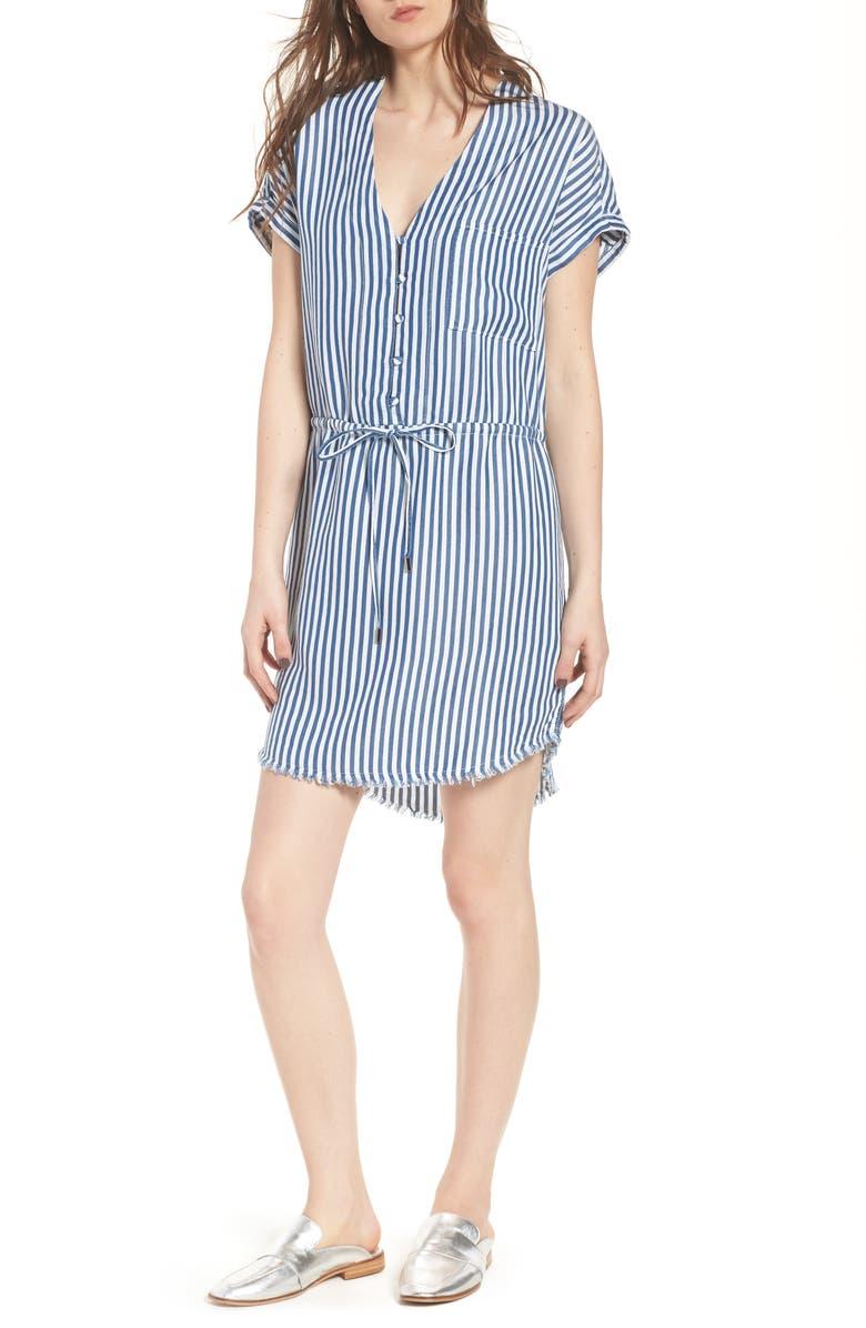 PAIGE Haidee Stripe Shift Dress, Main, color, 460