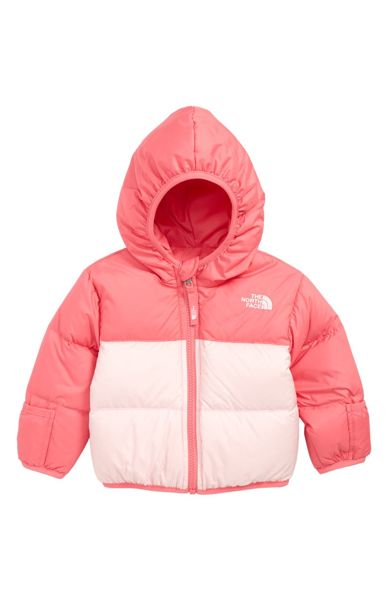 THE NORTH FACE Moondoggy Water Repellent Reversible Down Jacket, Main, color, CHA CHA PINK