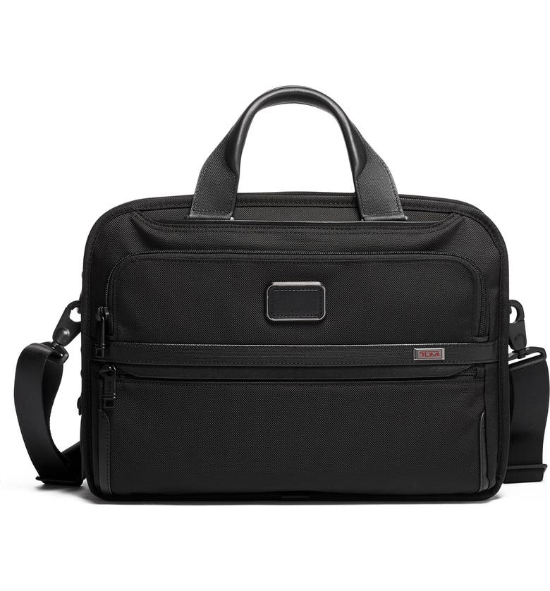 TUMI Alpha 3 Triple Compartment Briefcase, Main, color, BLACK