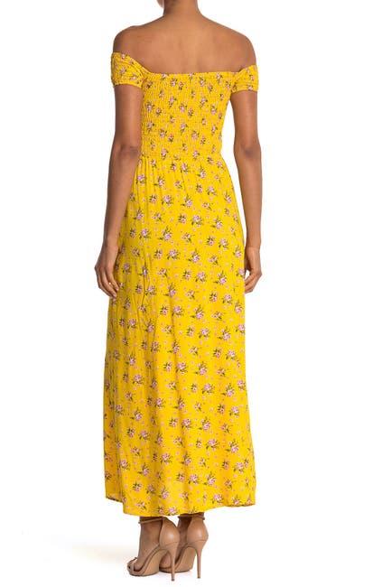 Image of Velvet Torch Smocked Off-the-Shoulder Maxi Dress
