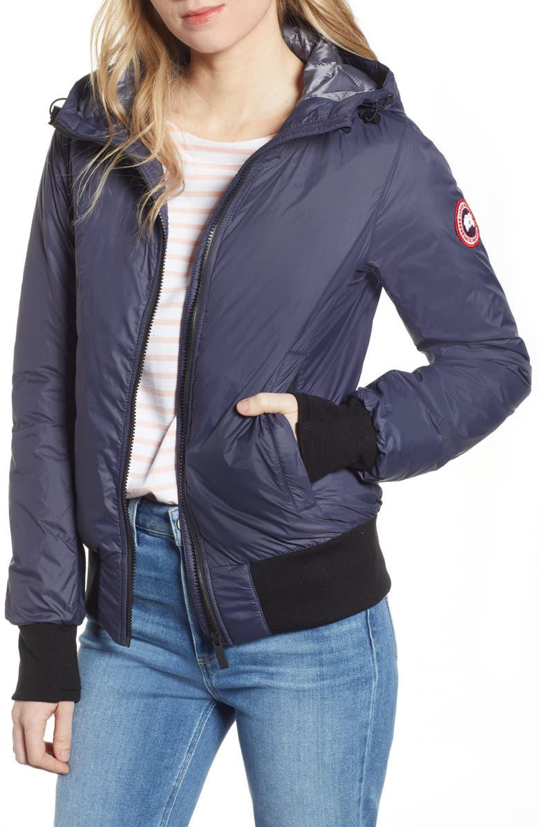 CANADA GOOSE Dore Down Hooded Jacket, Main, color, NAVY